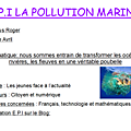 La pollution marine