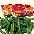 Roulé de lard & escalope de poulet, fromage frais et fruits secs
