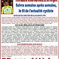 1993 - le cyclisme, son actualite (1° et 2° semaine de la saison)