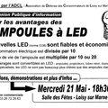 Le 21 mai : réunion publique d'information sur les ampoules à led