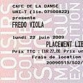 Fredo Viola - Lundi 22 Juin 2009 - <b>Café</b> de la <b>Danse</b> (Paris)