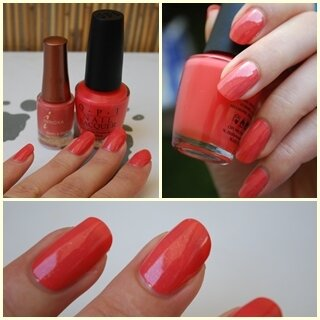 OPI hot & spicy + INNOXA corail précieux