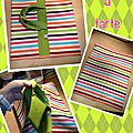 FLASHY STRIPED PIE BAG