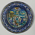 Plate with an <b>allegory</b> of the month of April, Pierre Reymond (1513- circa 1584), French, Limoges, circa 1568-1580