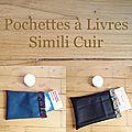 Pochettes à livres en simili cuir