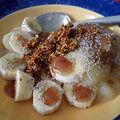Un bon déjeuner au quinoa germé, chia et banane!