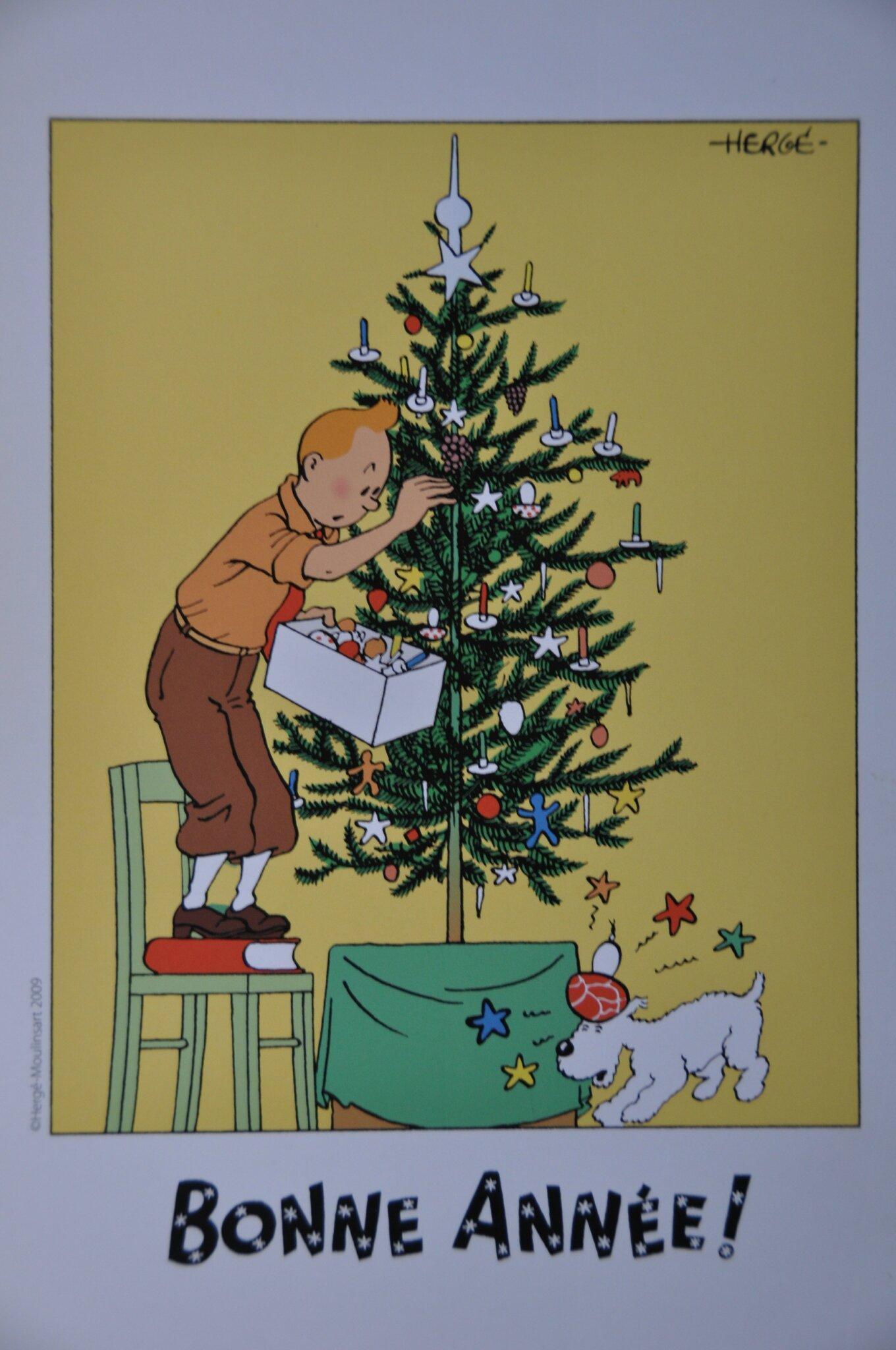 Ex-libris Tintin Bonne année 1