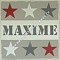 Prénom Maxime + 6 étoiles