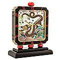 Verger Frères for <b>Charlton</b> & <b>Co</b>. Art Deco Chinoiserie Clock, circa 1925 -1928