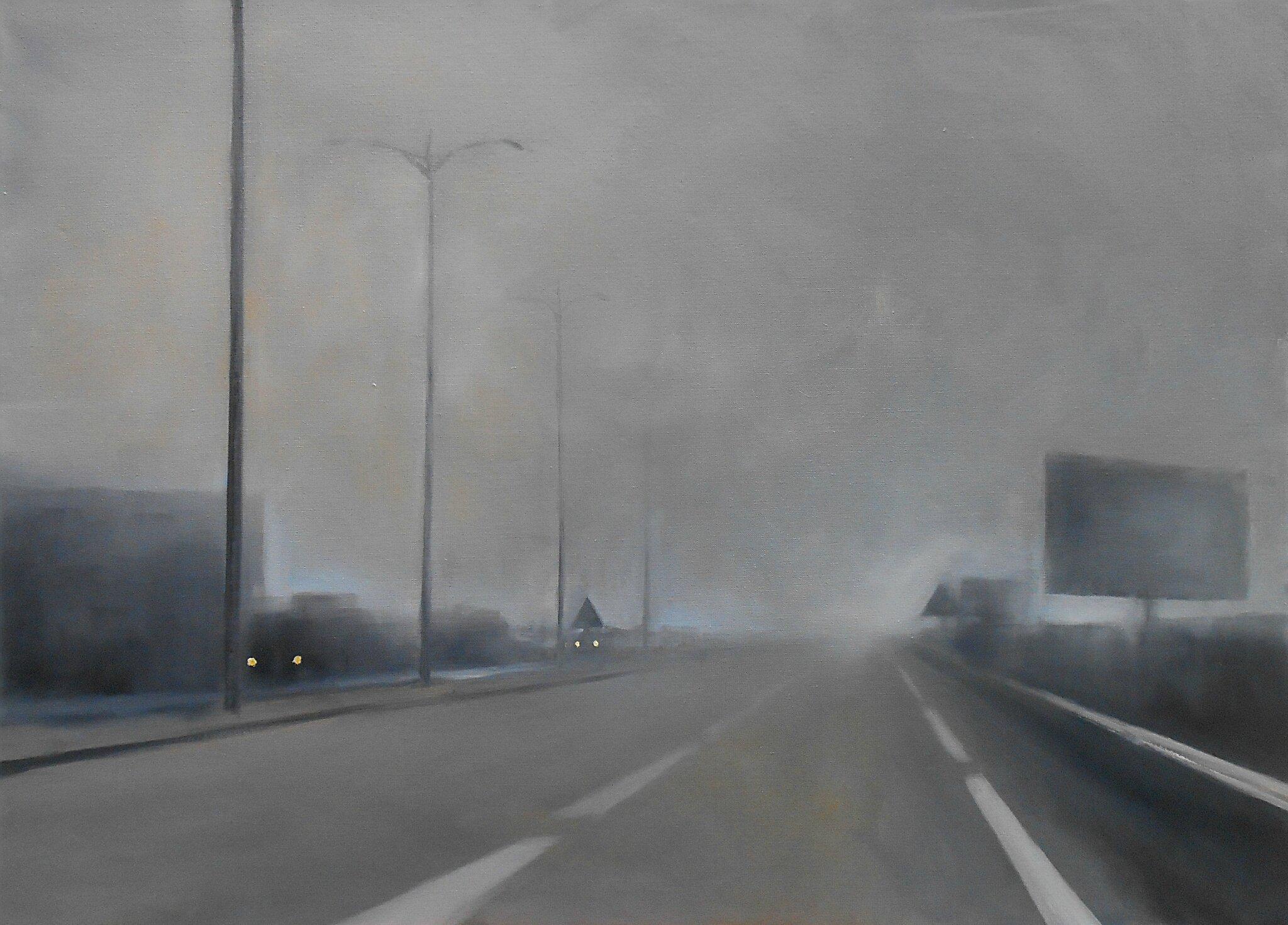 K'nowhere #31, 2014, huile sur toile, 97 x 73 cm.