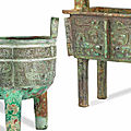 Very Rare <b>Archaic</b> <b>Bronzes</b> Lead Bonhams Fine Chinese Art Sale in London