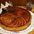 Galette frangipane-pépites de chocolat-<b>feuilletage</b> inversé