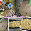 Cake à la truite fumée, citron et philadelphia raifort