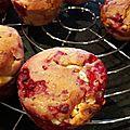 Muffins chocolat blanc et framboises