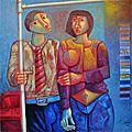 Peinture : Adélio Sarro, l'art et la manière de voir par le toucher