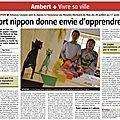 Article journal La Montagne 27072013 Expo Tetsuya GOTANI