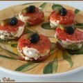 Mille feuilles tomates/mozzarella/pistou tupperware