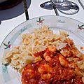 Crevettes sauce Colombo