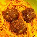 Spaghetti boulettes de bœuf sauce paprika