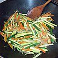 Pâtes au sarrasin, soja et légumes