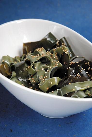 Pâtes aux algues konbu
