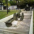 §§- canon de 75 m15 gebk autrichien à thessalonique, grèce