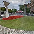 Rond-point à El Prat de Llobregat (Espagne)