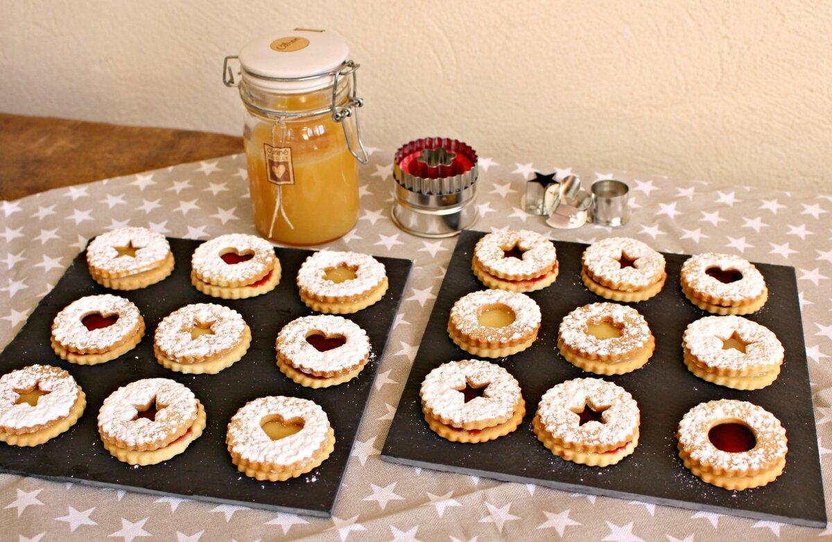 """Des Linzer Cookies ou sablés """"lunettes"""" Is@ de Belley"""