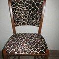 chaise girafe