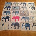 Parade des éléphants.