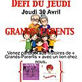 Défi du jeudi # grands-parents