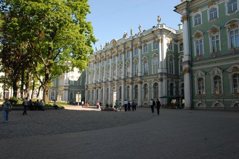La cour intérieure de l'Ermitage