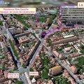 Vue du ciel : la résidence et les quartiers de Toulouse