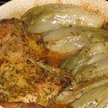 Cuisse de dinde moutarde aux endives cuites
