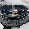 J'ai toujours aimé le bleu marine idéal avec ce <b>bracelet</b> double tour de poignet <b>masculin</b>-<b>féminin</b> en cuir cousu bleu marine