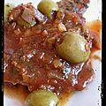 Escalopes de veau aux olives