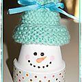 Tuto : faire des bonshommes de neige avec des pots en terre cuite