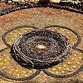nid sur mandala à quatre pétales à poids yurtao