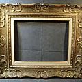 Ancien Cadre Montparnasse Style <b>Louis</b> <b>XV</b> Bois Sculpté Format 5F/ Ref323