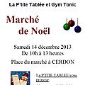 Marché de noël de sarcelle et bout d'ficelle - 14 décembre 2013