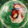 Npla technique en image pour réaliser des boules de noël serviéttées et craquelées pour décorer votre sapin.