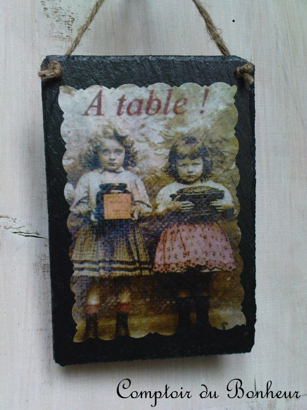ardoise à table
