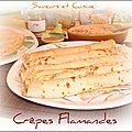 Crêpes Flamandes ( vergeoise beurre et cannelle ) un délice !