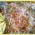 Crumble pommes -coco - eclats de chocolat