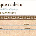 <b>CHEQUE</b> <b>CADEAU</b> STAMPIN'UP