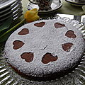 Gâteau au chocolat et à la farine de noix de coco, sans gluten et sans lactose
