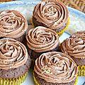 Chocolate & peanut buttercream cupcakes