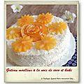 Gâteau d'automne au kaki et noix de coco