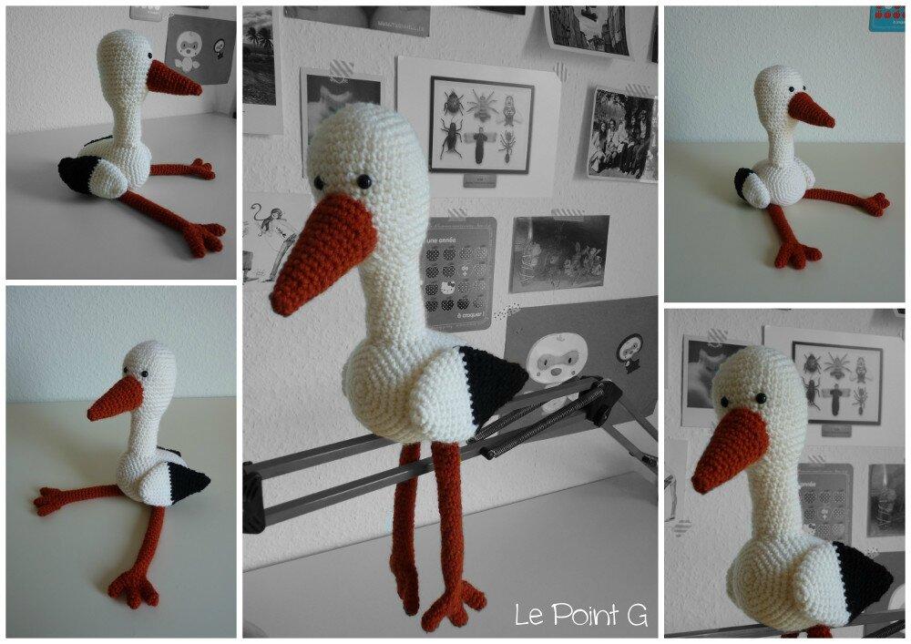 Doudou Cigogne au crochet