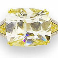A 14.08 carats cushion-shaped coloured diamond dress ring, by <b>Dianoor</b>